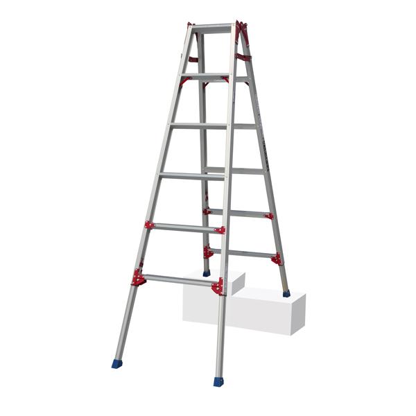PiCa(ピカ・コーポレイション):四脚アジャスト式 はしご兼用脚立 すぐノビ ロングスライドタイプ SCP-180L