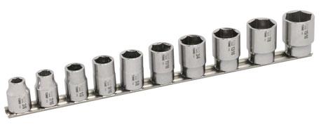 TONE(トネ)SUSソケット10点セット(6角ホルダー付き)差込角12.7mm shsb410