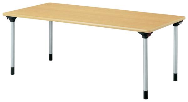 【後払い不可】【代引不可】【受注生産品】ニシキ工業:折りたたみテーブル KMH-1575-メープル