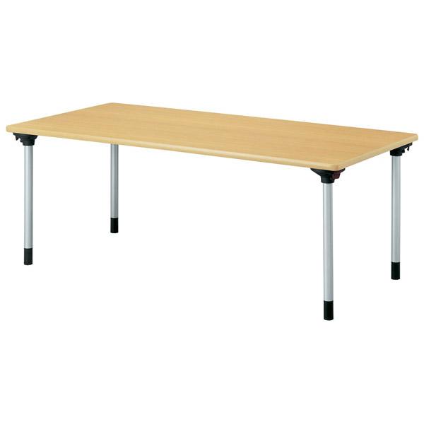【代引不可】【受注生産品】ニシキ工業:折りたたみテーブル KMH-1875-ニューグレー