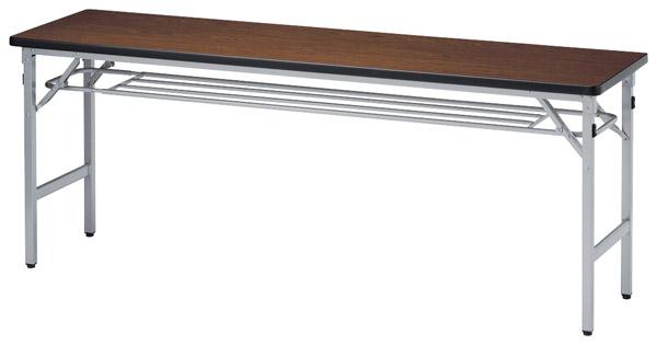 【代引不可】ニシキ工業:折りたたみテーブル SAT-1545S-チーク