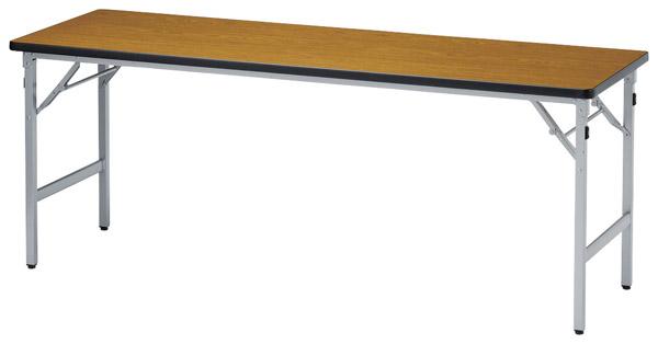 【代引不可】【受注生産品】ニシキ工業:折りたたみテーブル SAT-1560SN-ニューグレー