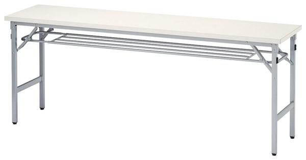 【代引不可】【受注生産品】ニシキ工業:折りたたみテーブル SAT-1845T-ニューグレー