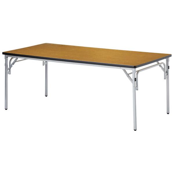 【後払い不可】【代引不可】【受注生産品】ニシキ工業:折りたたみテーブル TGS-1875-チーク