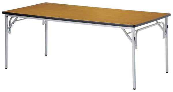 【代引不可】【受注生産品】ニシキ工業:折りたたみテーブル TGS-1875-ニューグレー