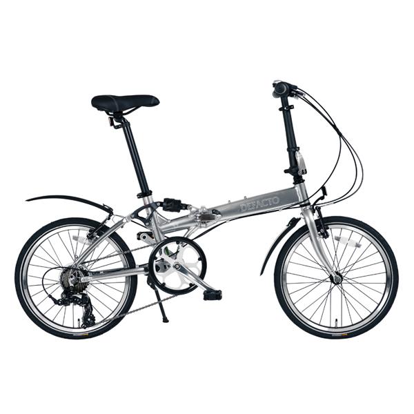 【代引不可】DEFACTO(デファクト):DZ-20 軽量フルアルミ仕様 20インチ折畳自転車 [シマノ 7段変速/リンクサスペンション搭載] DFDZ20/GP