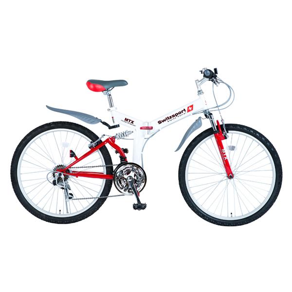【代引不可】SwitzsportTech (スウィツスポート-テック):AIGLE〔エイグル〕 フルサスペンション MTB型26インチ折畳自転車 〔シマノ18段変速〕 MDL31006