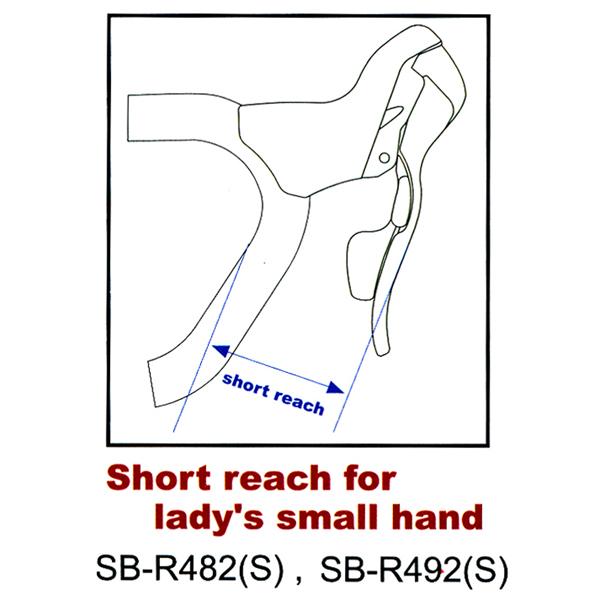 【後払い不可】【代引不可】microSHIFT(マイクロシフト):デュアルコントロールレバー[ショートリーチタイプ]2×8speed SB-R482S