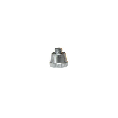 エアブラシ 塗装 工具 DIY  4545257031798 エアテックス:エアブラシ ビューティーフォープラス(ダブルアクションタイプ)用替ノズルキャップ シルバー B4-37
