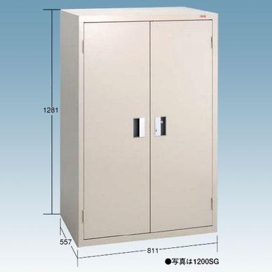 【代引不可】OS(大阪製罐):ロッカーS(スチール扉) ライトグレー 1800SG