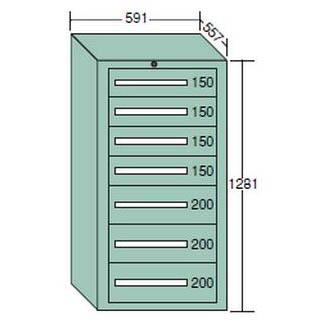 【代引不可】OS(大阪製罐):ライトキャビネット 軽量型(5型) 7段 5-1218