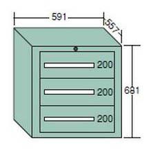 【代引不可】OS(大阪製罐):ライトキャビネット 軽量型(5型) 3段 5-603