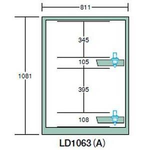【代引不可】OS(大阪製罐):ツーリングロッカー(HSK・NC5用) LN1000型 スチール扉 LD1063