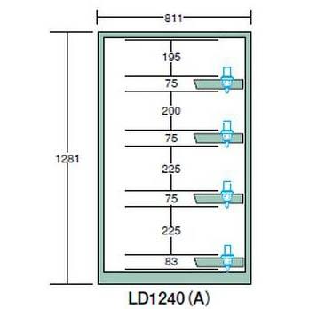 OS(大阪製罐):ツーリングロッカー(HSK・NC5用) LN1200型 スチール扉 LD1240