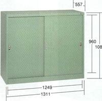 【代引不可】OS(大阪製罐):ワイドロッカースチール引き戸付 1000W