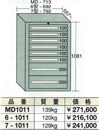 OS(大阪製罐):スタンダードキャビネット 8段 6-1011