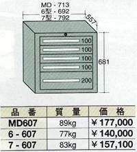 OS(大阪製罐):スタンダードキャビネット 5段 6-607