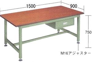 【代引不可】OS(大阪製罐):中量作業台BD型 BDW1593
