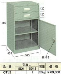 【代引不可】OS(大阪製罐):コンビケース CTL3