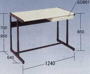 【代引不可】OS(大阪製罐):ラインテーブル(高さ調整式) LTH121