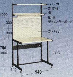 【代引不可】OS(大阪製罐):ラインテーブル 移動型 P型 LTH90PC