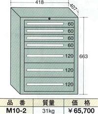 OS(大阪製罐):ミゼットキャビネット 7段 M10-2