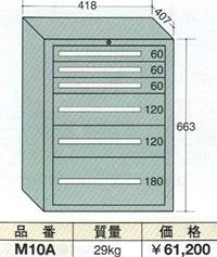【代引不可】OS(大阪製罐):ミゼットキャビネット別組 6段 M10A