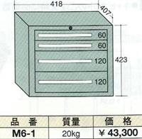 【代引不可】OS(大阪製罐):ミゼットキャビネット 4段 M6-1