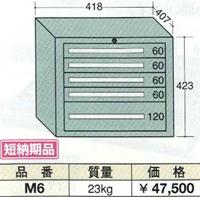 【代引不可】OS(大阪製罐):ミゼットキャビネット 5段 M6