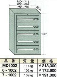 【代引不可】OS(大阪製罐):ミドルキャビネット 5段 MD1002