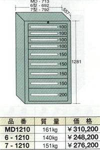OS(大阪製罐):ミドルキャビネット 9段 MD1210