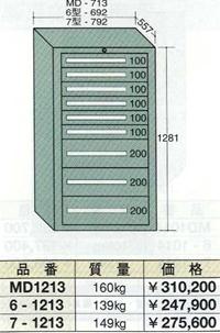 【代引不可】OS(大阪製罐):ミドルキャビネット 9段 MD1213
