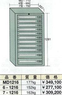 OS(大阪製罐):ミドルキャビネット 11段 MD1216