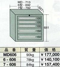 【代引不可】OS(大阪製罐):ミドルキャビネット 5段 MD606