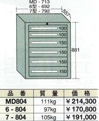 【代引不可】OS(大阪製罐):ミドルキャビネット 6段 MD804