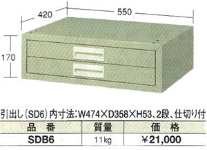 OS(大阪製罐):引出しボックス SDB6