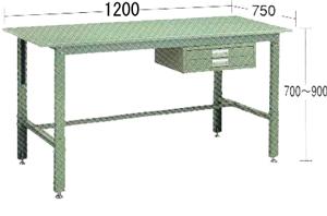 【代引不可】OS(大阪製罐):軽量作業台(高さ調整式) WKS1275H