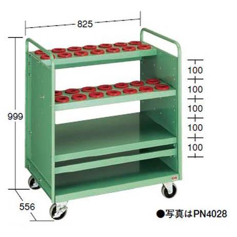 【代引不可】OS(大阪製罐):ツーリングパネルワゴン(引出し無タイプ) (NT・BT用) PN4028