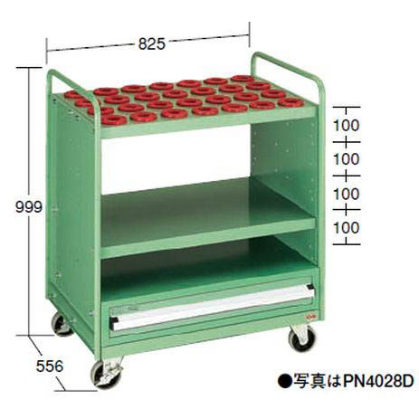 OS(大阪製罐):ツーリングパネルワゴン(引出し無タイプ) (NT・BT用) PN4056