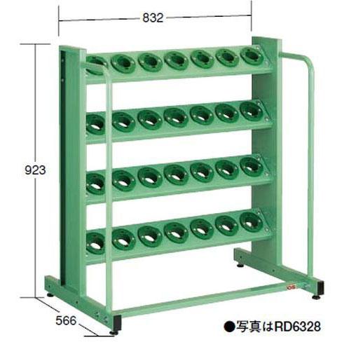 【代引不可】OS(大阪製罐):ツーリングタワー 定置型(HSK・NC5用) 4段 RD6328