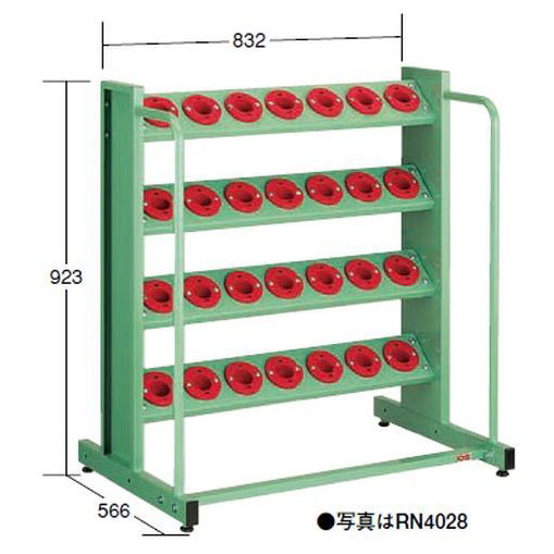 OS(大阪製罐):ツーリングタワー 定置型(NT・BT用) 4段 RN4028