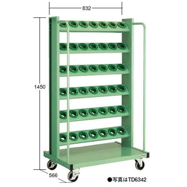 【代引不可】OS(大阪製罐):ツーリングタワー 移動型(HSK・NC5用) 6段 TD6342