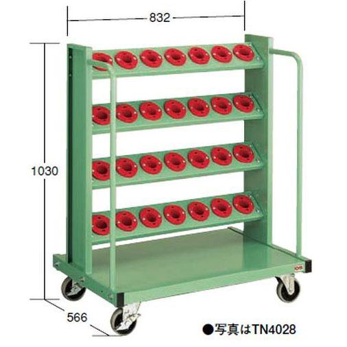 【代引不可】OS(大阪製罐):ツーリングタワー 移動型(NT・BT用) 4段 TN4028
