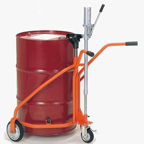ヨドノ:軽便ドラムカー プレス車輪付 300kg No.60-300