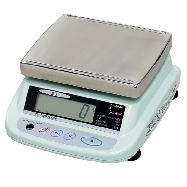 イシダ:防水上皿型重量はかり 両面表示S-boxWP 3kg 900198007