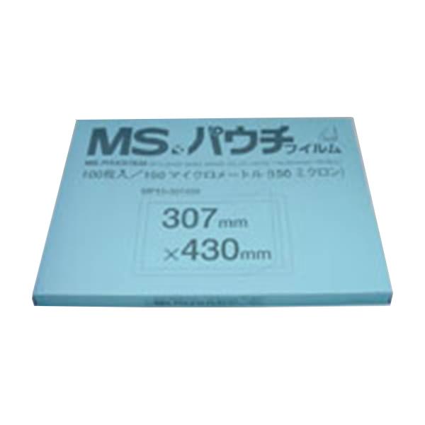 明光商会:MSパウチフィルム 100枚 (0.15mm厚) A3判 縦307×横430mm MP15-307430 21077