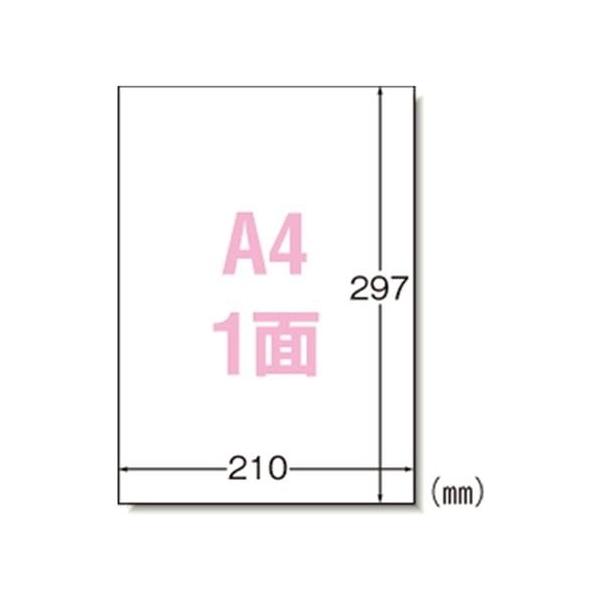 エーワン:ラベルシール(プリンタ兼用) マット紙 ノーカットタイプ 1000枚 A4判1面 31151 60890