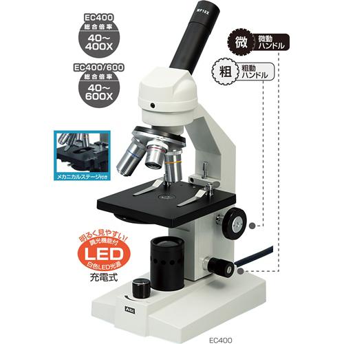 アーテック:生物顕微鏡EC400(簡易メカニカルステージ付タイフ 9878