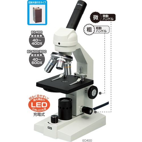 アーテック:生物顕微鏡EC400(木箱大付) 9980