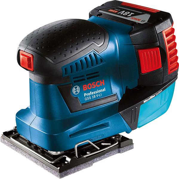 BOSCH(ボッシュ):バッテリーオービタルサンダー 本体のみ GSS18V-LIH 000555108018